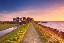 Dutch coastal village at sunrise by Sara Winter