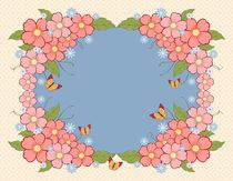 Beautiful floral background with place for text by larisa-koshkina
