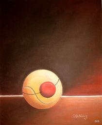 Tenniszirkus, Tennisbild ... Clown - Kunst - Sport by Edeltraut K.  Schlichting