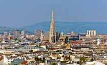 Vienna with St. Stephans church von Leopold Brix