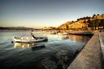 Nafplion Harbour at dusk  von Rob Hawkins