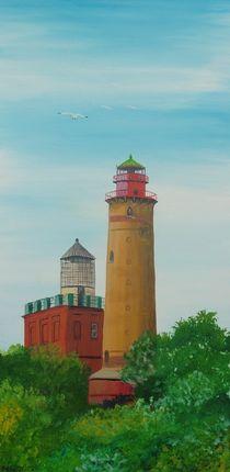 Leuchtfeuer Kap Arkona, neuer und alter Turm von Barbara Kaiser