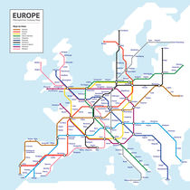 Europe Metropolitan Subway Map by Anders Dahl Eriksen