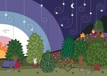 Sternenlandschaft Grußkarte von Kati Meden