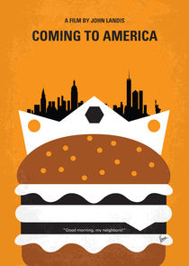 No402 My Coming to America minimal movie poster by chungkong