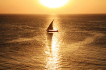 African Dhow At Sunset  by Aidan Moran