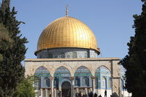 TREES & ARCHES DOME OF ROCK by Mohammed Ruhul Amin