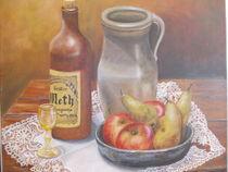 Stillleben mit Krug,Äpfel und Birnen by Dorothy Maurus
