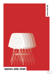 Eames Side Chair / Design Icons of the 50s / Classic Pantone Poster by patricon
