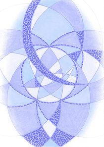 """""""Kühles Blau"""" Meditation II von Heike Nedo"""