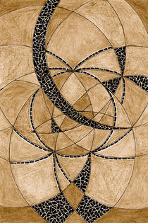 """""""Geometrisches Sepia"""" Meditation III von Heike Nedo"""