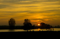 Sunset on the Maas River von Engeline Tan