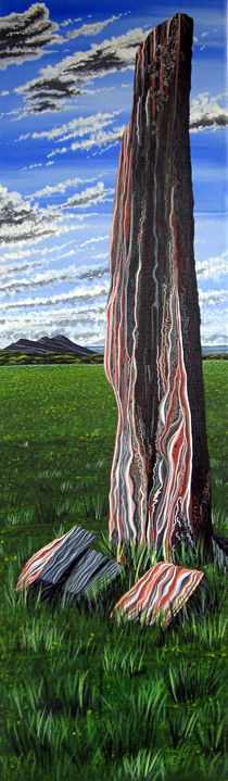 Eildon Hills and Bemersyde by sarahspainting