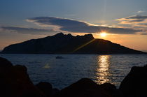 Sunset In The Greek Islands by Malcolm Snook