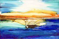 Swan at Sunset von Linda Ginn
