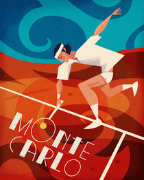 Art Deco Tennis Poster by Benjamin Bay