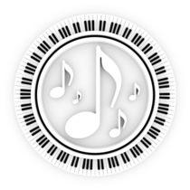 Klaviatur mit Noten von dresdner