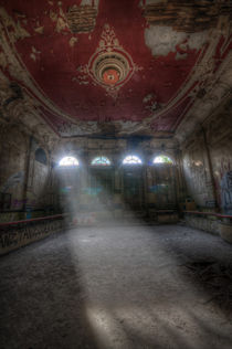 Old red ballroom by Nathan Wright