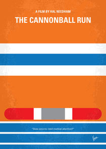 No411 My The Cannonball Run minimal movie poster von chungkong