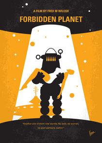 No415 My Forbidden Planet minimal movie poster von chungkong