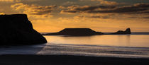 Sunset at Worm's head  von Leighton Collins