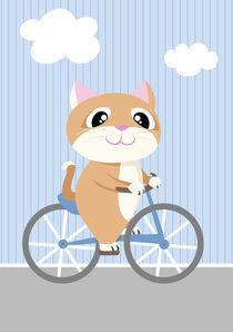 Mobil Serie Katze Fahrrad von Michaela Heimlich
