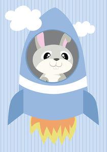 Mobil Serie Rakete Hase by Michaela Heimlich