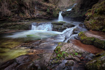 Waterfall country, South Wales by Leighton Collins