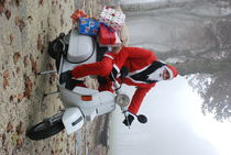 Father Christmas in the Vespa by ANNA CAMORALI