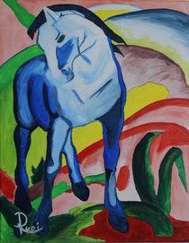 Franz Marc ́s Blaues Pferd 1 by Rudolf Urabl