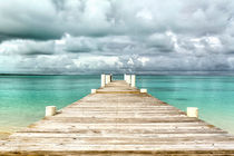 Caribbean landscape - isolated jetty - Bahamas by Pier Giorgio  Mariani