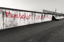 Street Art - Menschen sind peinlich I von elbvue