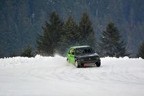 VW Golf II beim Eisrennen - Ice Race von Mark Gassner