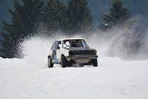 VW Golf I im Drift beim Eisrennen - Ice Race von Mark Gassner