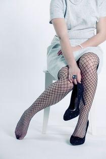 fishnet tights by Joana Kruse
