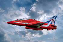 Hawk T1A Red Arrows - 50 Display Season Colours von Steve H Clark Photography
