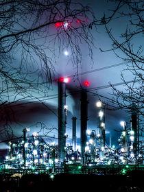 Schornsteine im Nebel von Daniel Heine