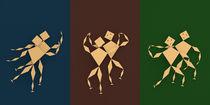 Tänzer Triptychon by dresdner