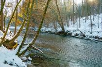 winter river in last sun