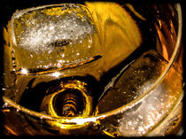 Ice cubes in wine class by Marnie Walis