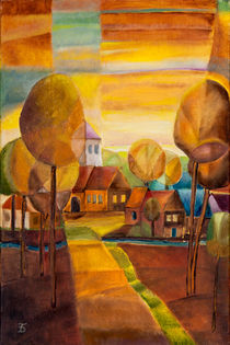 Dorf am Abend by Doro T