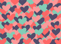 Colorful hearts by decoravie