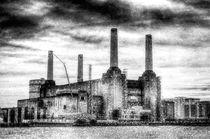 Battersea Power Station London Snow by David Pyatt