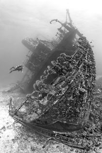 Wreck of Giannis D BW by Norbert Probst