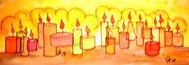 Kerzen-aquarell