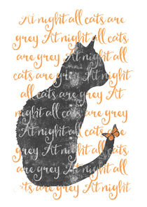 at night all cats are grey von Sybille Sterk