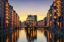 Wasserschloss in Hamburg, Germany von Michael Abid