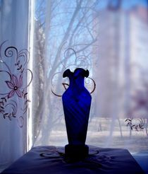 Blue Vase in a Window