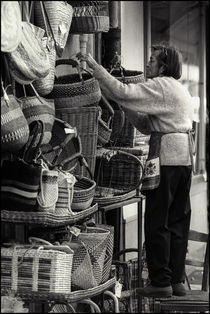 Purveyor of Baskets in Nice by Michael Whitaker
