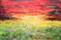 Twilight Bounds Softly Forth on the Wildflowers von Kume Bryant